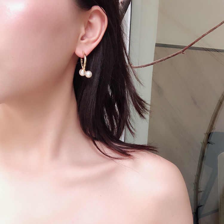 Clássico Mulheres Geométricas Brincos de Metal Brincos de Pérola Do Parafuso Prisioneiro Acessórios de Moda Jóias Das Mulheres