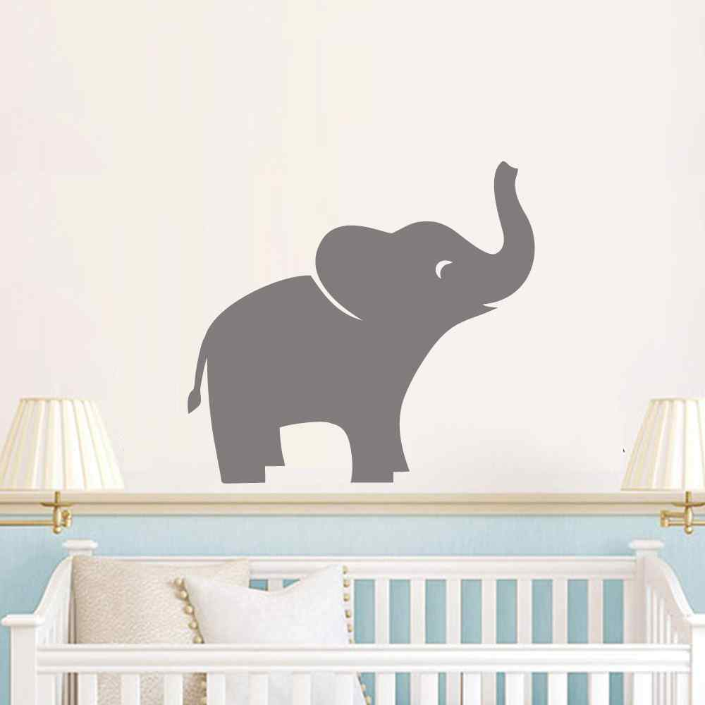 Éléphant Sticker Mural Autocollant Jungle Safari Chambre D ...