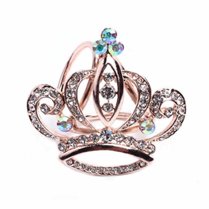 Hot Syal Sutra Perhiasan Aksesoris Selendang Cincin Klip Trisiklik Syal Gesper Bros Mewah Sederhana Wanita Gadis Partai Hadiah