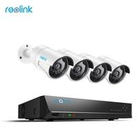 Reolink 4MP Kamera System 8ch PoE NVR & 4 PoE IP Kameras Kugel Außen HD Video Surveillance Kit 2 TB HDD RLK8-410B4