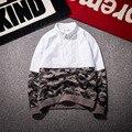 Осенью новый цвет камуфляж РУБАШКА ХЛОПКА сшивание тонкий с длинными рукавами рубашки личность Американский уличный стиль