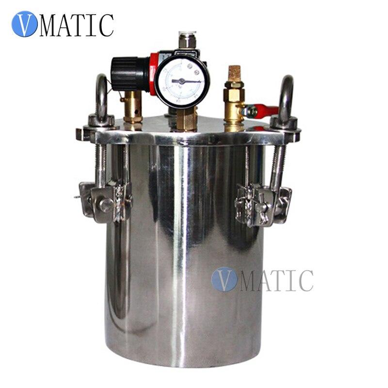 Livraison gratuite 5L acier inoxydable colle acier pneumatique réservoir de pression