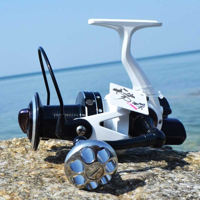 risn mm7000 mm10000 15+1bb full metal surf casting reel long shot, Reel Combo