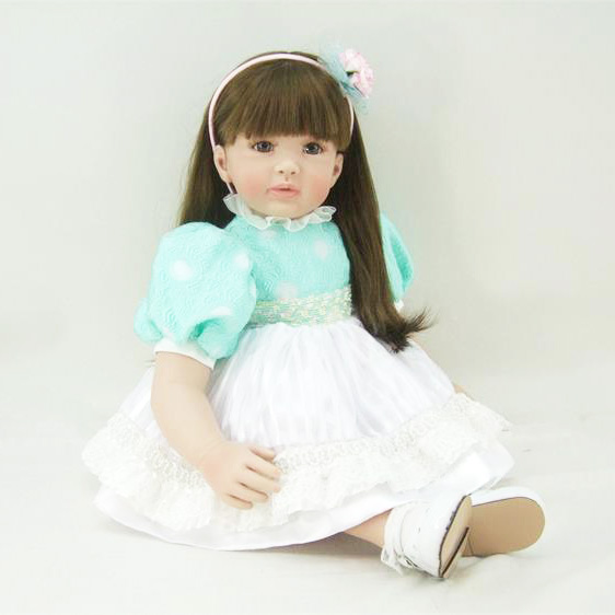 Hot sale 55cm lifelike silicone reborn doll vinyl simulated dolls princess toddler brinquedos christmas new year boutique gifts sd bjd plastic lifelike princess girl doll dressing exercise doll for kids high end christmas new year gift boutique collection