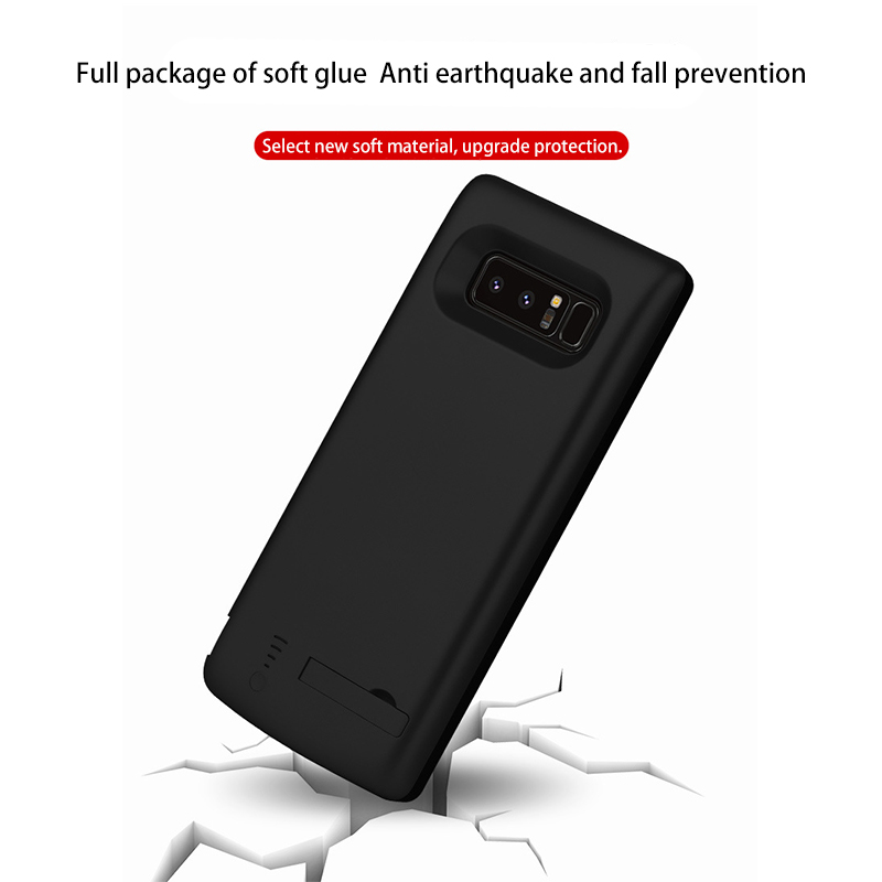 buy popular 06ea8 0de74 For Samsung Note8 6500mAh Phone Battery Case Powerbank Cases For Samsung  Galaxy Note 8 External Battery Charger Case Spare Power