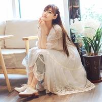 Mùa hè Nhật Bản Mori Cô Gái Gốc Ren Hoa Dài Kem Chống Nắng Áo Phụ Nữ Casual Ngọt Xù Nửa Tay Áo Cardigan Áo V276
