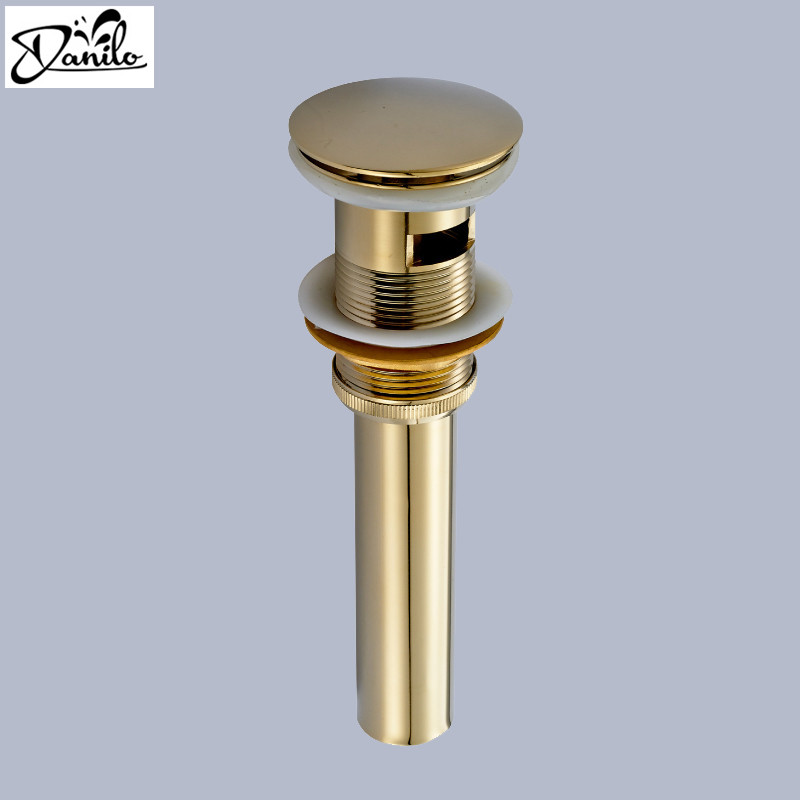 Free Shipping Classical Solid Brass Bathroom Lavatory Sink Pop Up Drain With Gold Finish bathroom parts faucet accessories