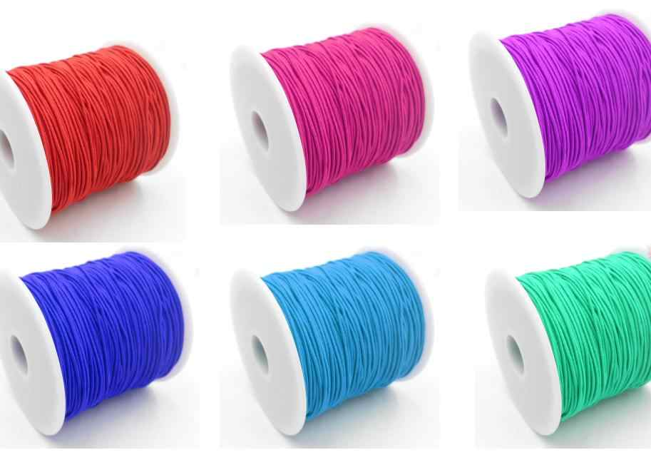 10 Colors Choice 25meters 1MM Beading elastic Stretch Cord Beads Cord String Strap Rope Bead For   Bracelet