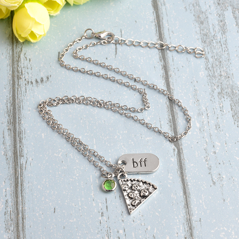 QIHE JEWELRY 6 pcs / set Pizza Kalung Dengan BFF Pesona Berlian - Perhiasan fashion - Foto 2