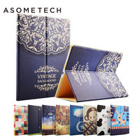 For IPad Pro 9 7 Illustrator Series Folio Case Stand Shockproof Flip Back Cover For IPad