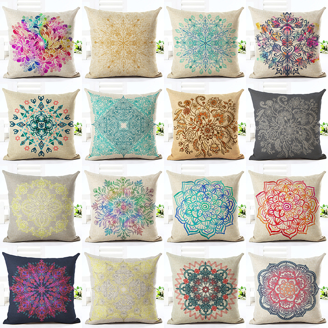Birds Flower Sofa Custom Pillowcase Spring 10 Styles Chinese Culture Floral  Cushion Cover Pillow Cases Sofa