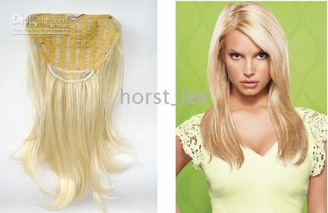 """Free shipping fashion 22"""" Jessica Simpson Style Straight Clip In Extension (1 pc),#613"""