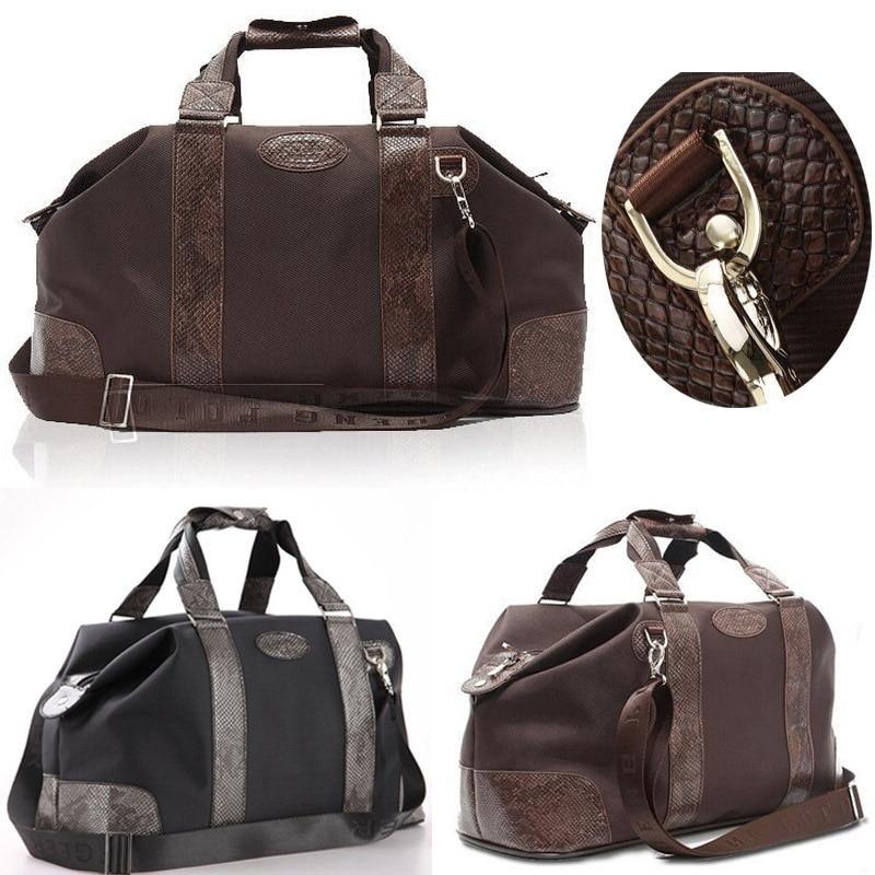 d117679447006 Men s travel bags Snakeskin 2015 Fasion barrel Mens messenger bag  waterproof duffle bag leather sport bags en Bolsas de viaje de Bolsos y  maletas en ...