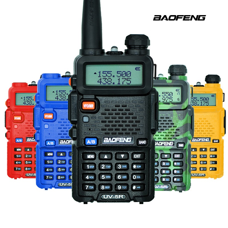 BaoFeng UV-5R Walkie Talkie 5 farben Professionelle CB Radio Baofeng UV5R Transceiver 128CH 5 Watt VHF & UHF Handheld für Outdoor-Sport