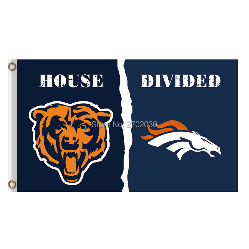 Chicago Bears Flag vs denver broncos Banners Football Team Flags 3x5 Ft Super Bowl Champ ...