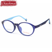 Chashma Quality Student Eye Glasses Children Optical Silicon Material Flexible Round Fashion Rubber Spectacle Frame Kids