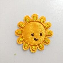 20 шт., железные нашивки для одежды с аппликацией, с рисунком солнца, вышитые патч-куртки, parches bordados, Лоскутное детское платье, Декор