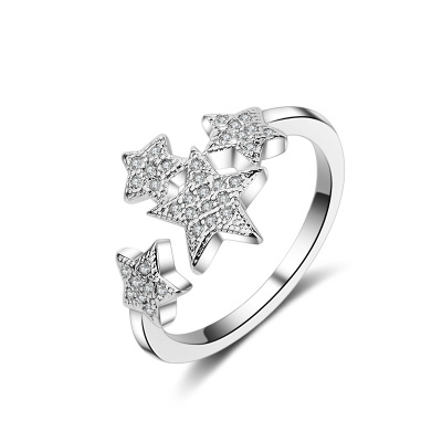 Newmalry with several little stars fashion ring made of stainless steel for both man and women Beauty and jewelry