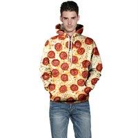 Harajuku 3D Print Donut pizza Sweatshirts Fashion Long sleeve with hat Men Women Cute Soft Hoodies Cartoon Hoody Hooded Pullover