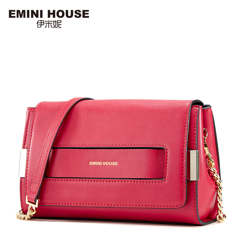 EMINI HOUSE Split Leather Flap Bag New Design Women Messenger Bags Casual Clutches Shoulder Fashion Crossbody
