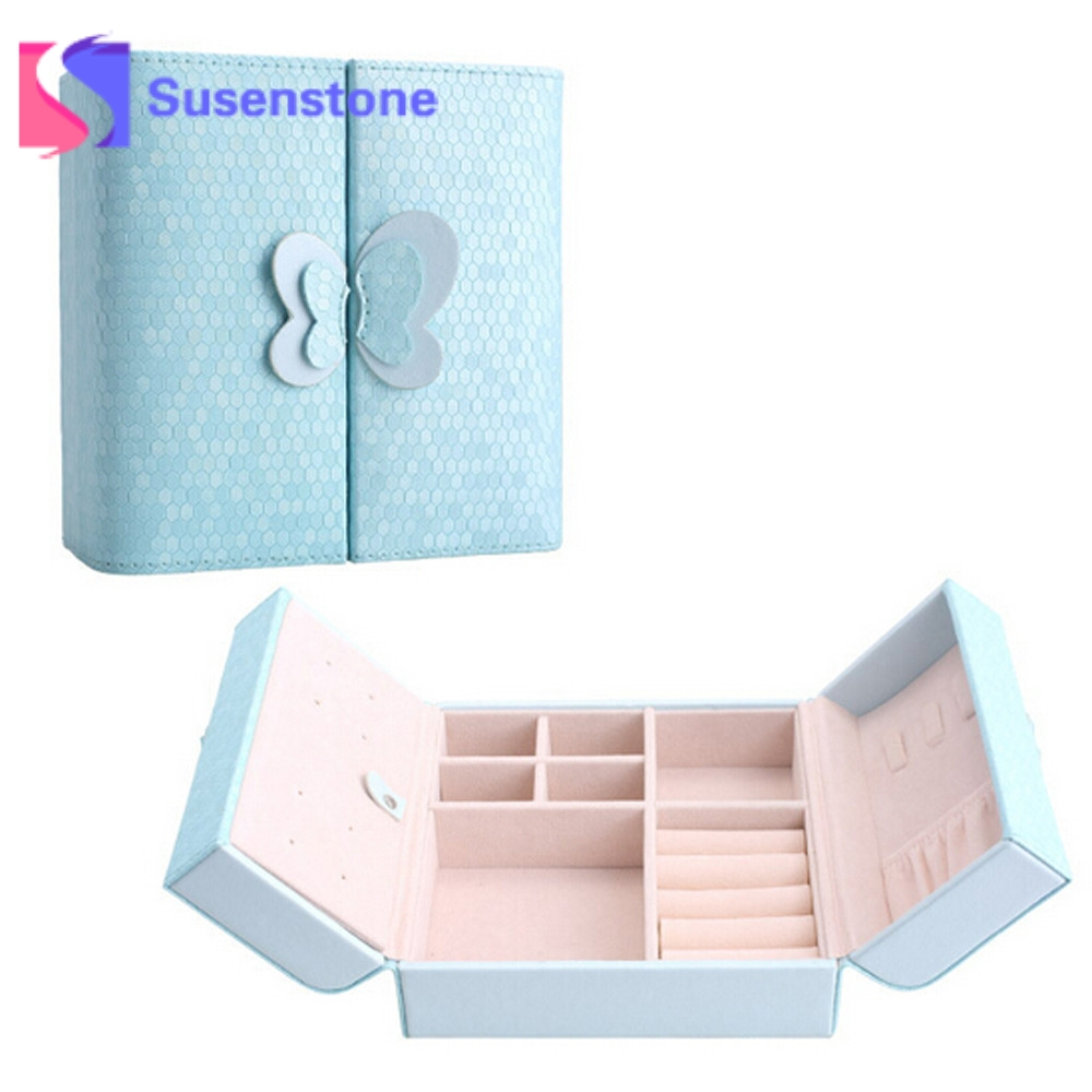 2018 New Creative Jewelry Box Mini PU Leather Casket for Jewelry Travel Case Best Birthday Gift Ring Earring Necklace Storage