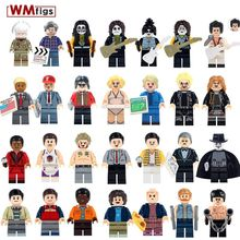 Single The Godfather Film Figures Legoings Kiss Band Guitar Rock Monroe Bruce Lee Super Heroes Building Blocks Toys for Children(China)