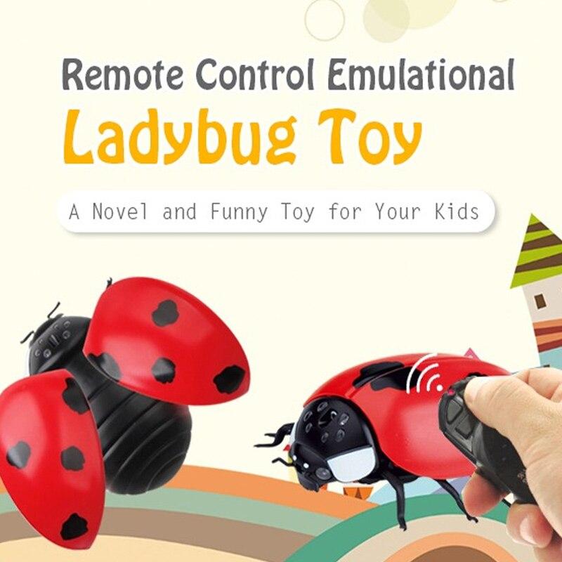 Пульт дистанционного управления насекомые электрические жуки игрушки Rc насекомые божья коровка Пластиковые эмуляции электронные компоненты инфракрасные вечерние макет