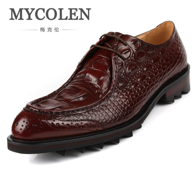 MYCOLEN Luxury Genuine Leather Men Shoes Business Casual Dress Shoes Round Toe Formal Wedding Formal Shoes Soulier Homme luxury genuine leather wedding shoes pointed toe black white dress shoes men chaussure homme casual loafers formal business shoe