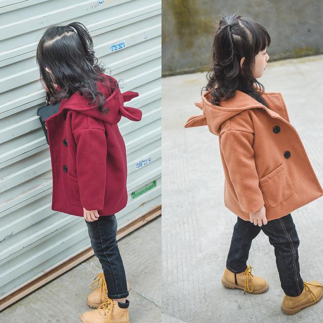 Para baixo casaco para as meninas de algodão-acolchoado jacket casaco de lã casaco de lã menina crianças roupas de inverno 2016 nova BC-SY104B