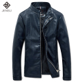 2016 Men Leather PU Jackets Coats Outwear Jaqueta Masculina Men's Casual Fashion Slim Fit Male Veste Homme Jackets Coats M-5XL