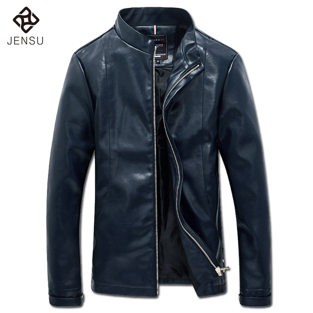 2016 Men Leather PU Jackets Coats Outwear Jaqueta Masculina Men's Casual Fashion Slim Fit Male Veste Homme Jackets Coats M-5XL