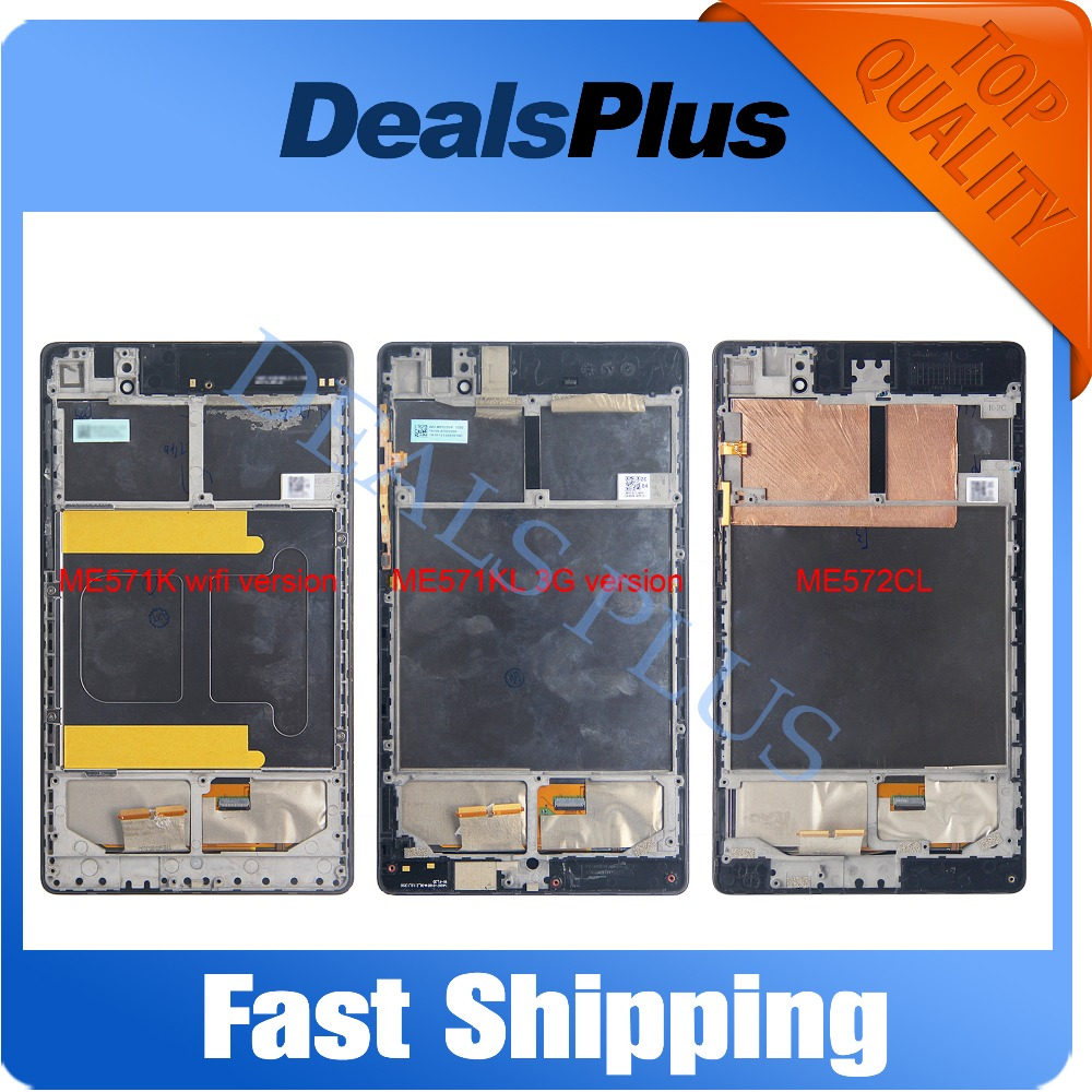 купить Replacement New LCD Display + Touch Screen+Frame Assembly For Asus Google Nexus 7 ME571 ME571K ME571KL ME572 ME572CL по цене 1885.57 рублей