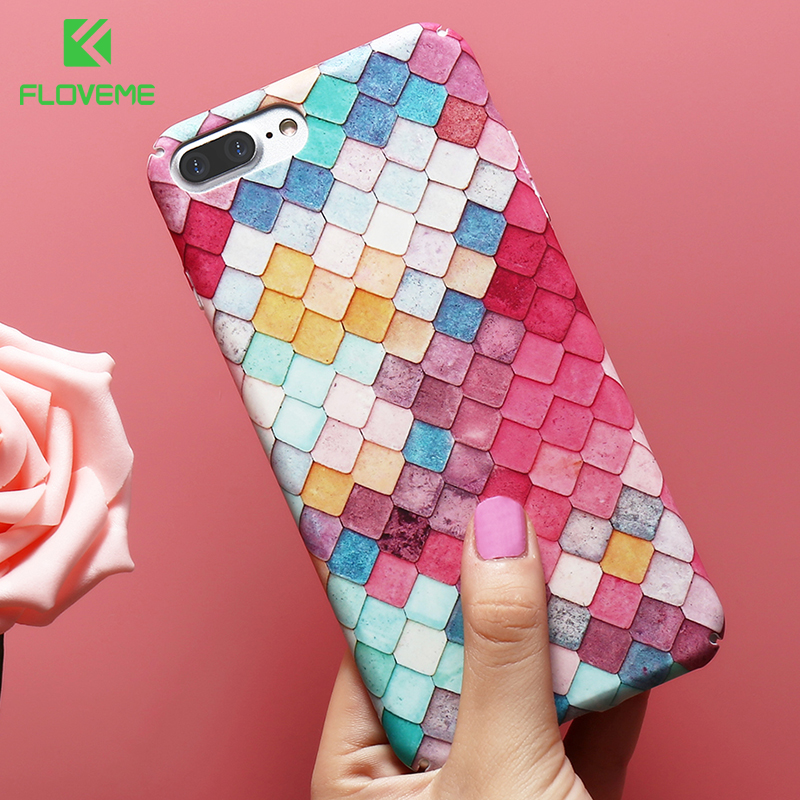 FLOVEME Women Case For iPhone X 6 6 S 7 8 Plus 5 5S SE Cute Mermaid Cases For iPhone XS MAX XR Phone Bag Case Cover Accessories