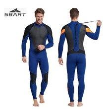 SBART Men's 3MM SBR Neoprene Wetsuit  Scuba Diving Triathlon Spearfishing Snorkeling Surf Dive Suit Sportswear Equipment цена