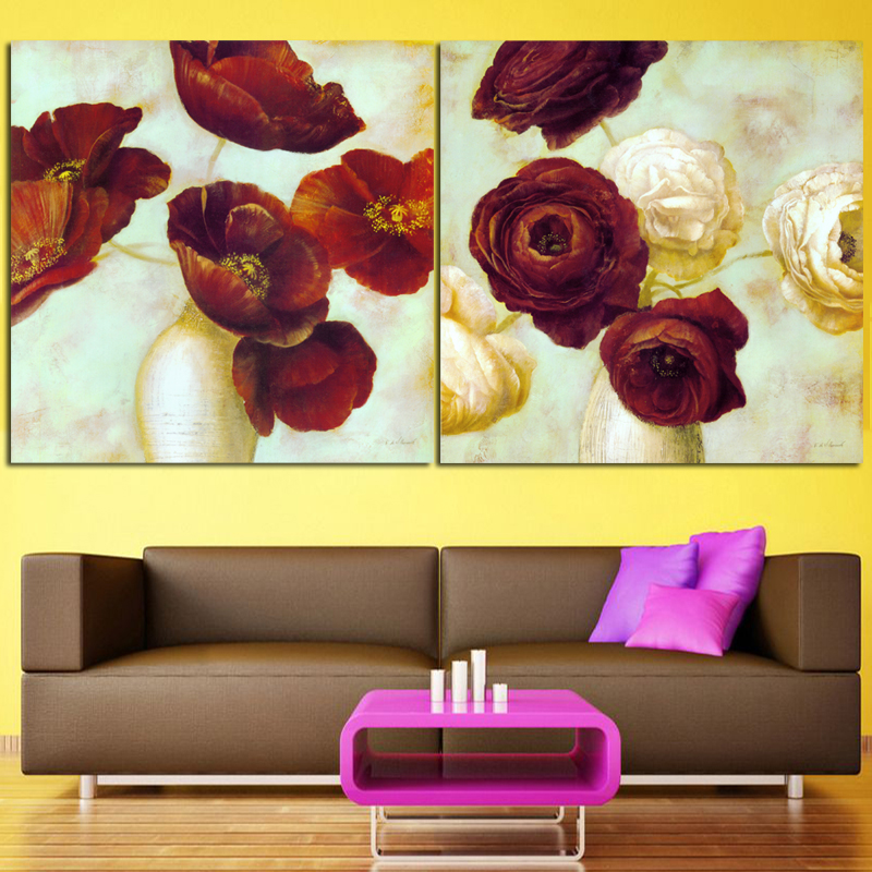 Stunning Red Rose Wall Decor Pictures Inspiration - Wall Art Design ...