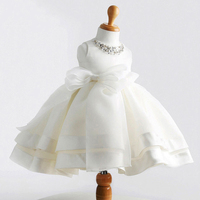 Ball Gown Prom Dresses Child Girls Lace Flower Dresses Cute Little Girl Princess Party Dress 1 Birthday Tulle Beading Sashes