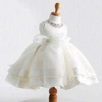 Vestido de Bola Vestidos de Baile Niño Niñas de Encaje de Flores Vestidos de Niña Linda Princesa Vestido de Fiesta de 1 Cumpleaños de Tul Rebordear Sashes