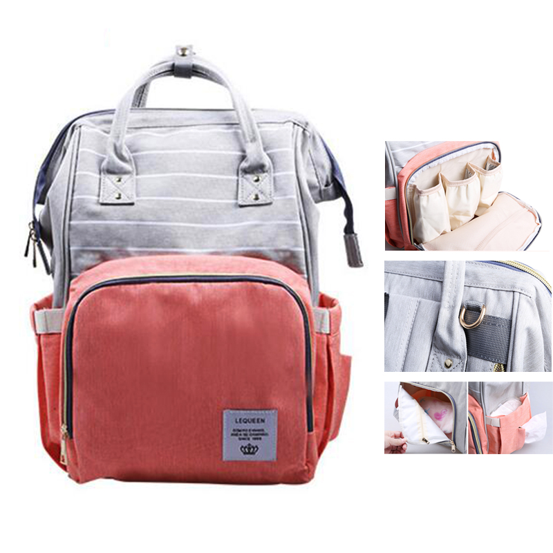 f1a973fd62 Lequeen 2018 Style Mummy Maternity Baby Care Nappy Bag Brand Large Capacity  Baby Dry Wet Bag Travel Backpack Nursing Diaper Bag-in Diaper Bags from  Mother ...