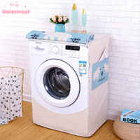 Cartoon Washing Machine Cover Laundry hood Polyester & Cotton Fabric Europe Style 10 Kinds of Color Waterproof Free Shipping