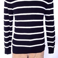 POLO RALPH LAUREN Мужская ST. BARTH свитер черный белый SZ L СЗТ $225