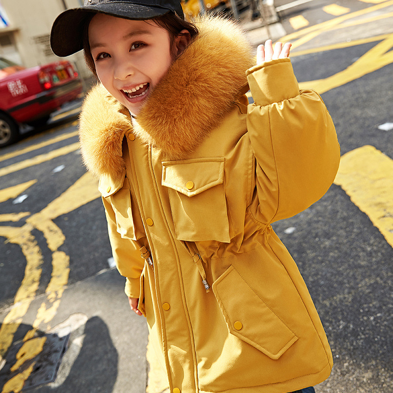 все цены на 2018 New Kids Jacket Kids Down Jacket Warm Girls Down Coat Fur Collar Children Winter Coat Baby Snowsuit Toddler Coat,#3688 онлайн