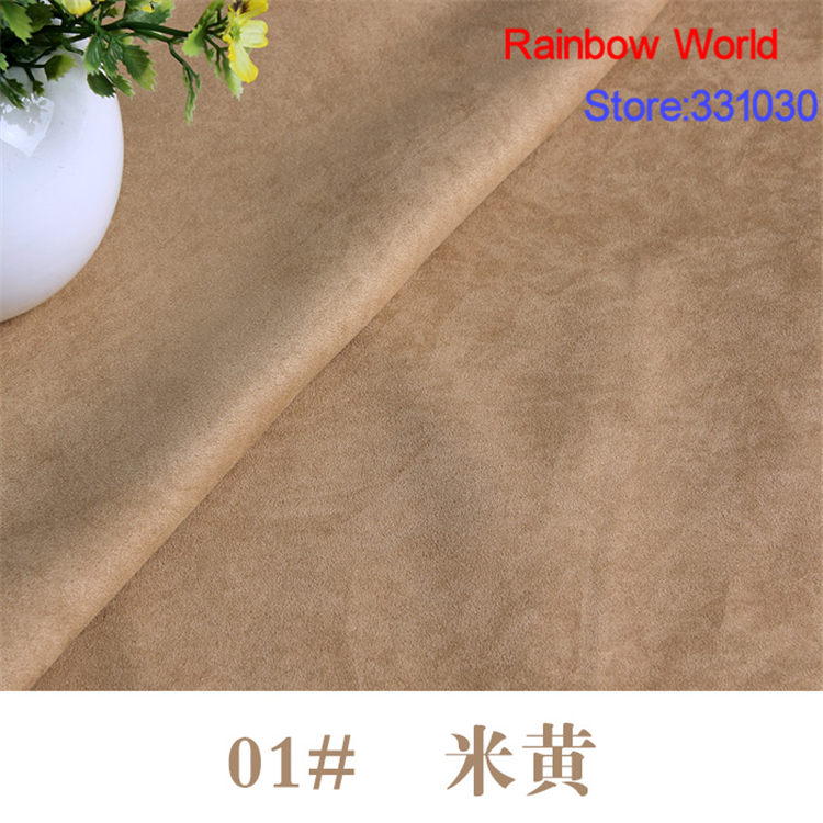 01# light brown thin suede fabric for DIY Sofa pillow bag colthes overcoat hat shoe material(1 meter)