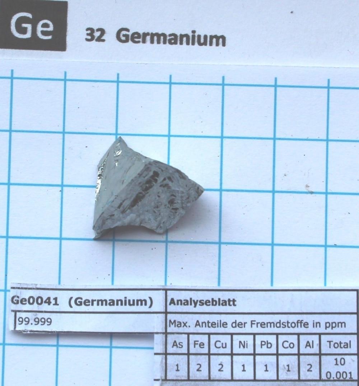 5 gram 99.999% Germanium metal - Pure element 32 sample 5 gram 99 9