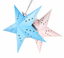 1pc/set 60cm Big Pink Paper Star Lanterns For Kids Birthday Party Decoration Baby Showers Festival Supplies