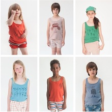 2017 SUMMER BOBO CHOSES SLEEVELESS T SHIRTS TOPS BABY BOY CLOTHES BRAND BABY GIRL CLOTHES KIDS CLOTHES VESTIDOS VETEMENT