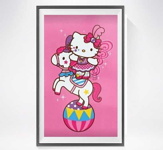 """Sơn kim cương Vuông/Vòng Khoan Hoạt Hình đồ chơi """"hello kitty"""" Mosaic Rhinestone Thêu Thủ Công trang trí cho trẻ em của gifts5D"""