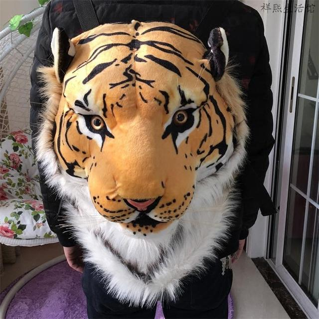 High Quality 3D Tiger Head Backpack Cartoon White Women Men Casual Daypacks  for Travelling Kids Bags Bolsas NEW