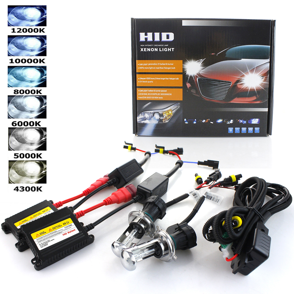 Xenon H7 AC 35W 55W Slim Ballast Kit HID Xenon Headlight Bulb 12V H1 H3 H11 H7 Xenon Hid Kit 4300k 6000k Replace Halogen Lamp