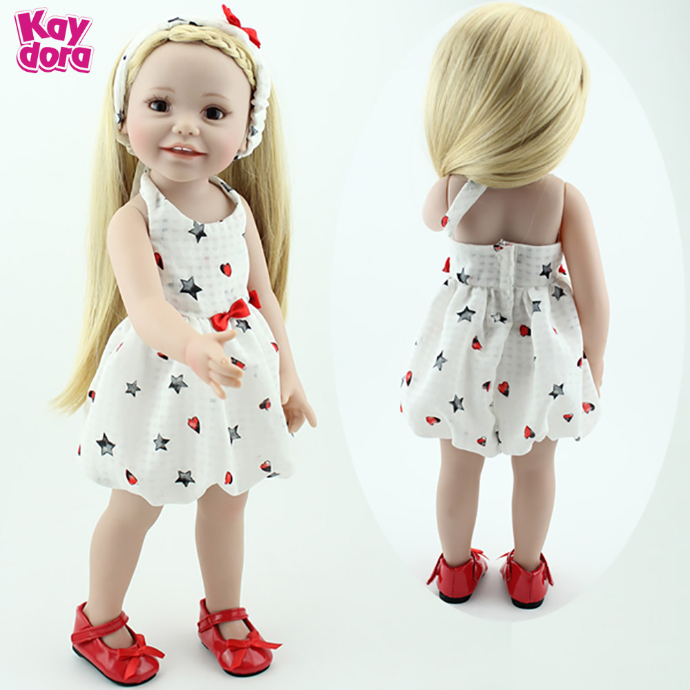 "18/"" White Princess Dress Lifelike Doll Vinyl Baby Bride Newborn"
