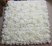 SPR white wedding rose flower wall backdrop more desens Artificial silk rose stage decoration arrangement decorative flore